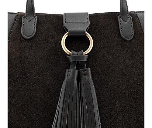 WITTCHEN Elegante Tasche   30x40cm, Narbenleder   Passend für A4 Größe: Ja   Schwarz, Kollektion: Elegance   85-4E-200-1