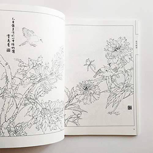 motivo: fiori e uccelli Libro da colorare per adulti libro per pittura antistress 94 pagine
