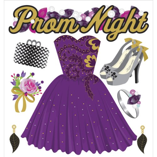 Jolee's Boutique 50-21464 Dimensional Stickers, Prom Night
