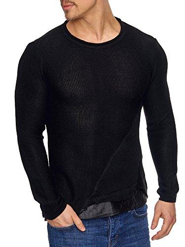 Pull Tricot En Styler Pour 16494 Noir Homme Tazzio zwI8qE4x