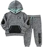 Calvin Klein Baby Boys' 2 Pc French Terry Hoodie Sets, Grey, 18M