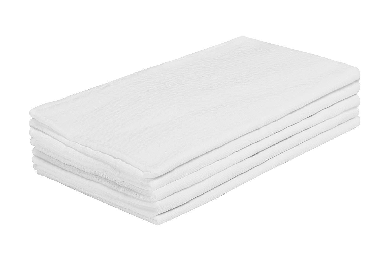 M/ás opciones disponibles Pack de 5 Pa/ños de Muselina Blancos de Algod/ón 100/% natural