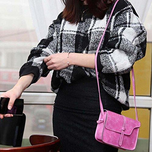Café Piel Caliente Por De Niñas Mujer Bolso De Rosa Para ESAILQ Bolsa Hombro Bandolera Pequeña pwYx60qSx