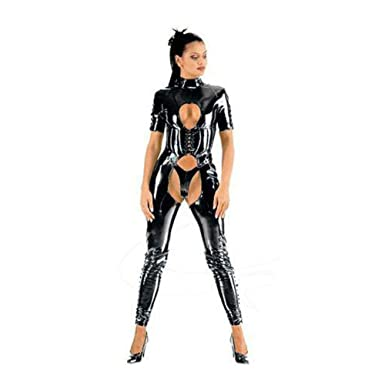 Muka Black Catsuit Halloween Costumes Dominatrix Bodysuit Dress Corset u0026 Thong-S  sc 1 st  Amazon.com & Amazon.com: Muka Black Catsuit Halloween Costumes Dominatrix ...