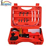 Hand Held Vacuum Pump Tester Set Vacuum Gauge and Brake Bleeder Kit for Automotive with Adapters,...