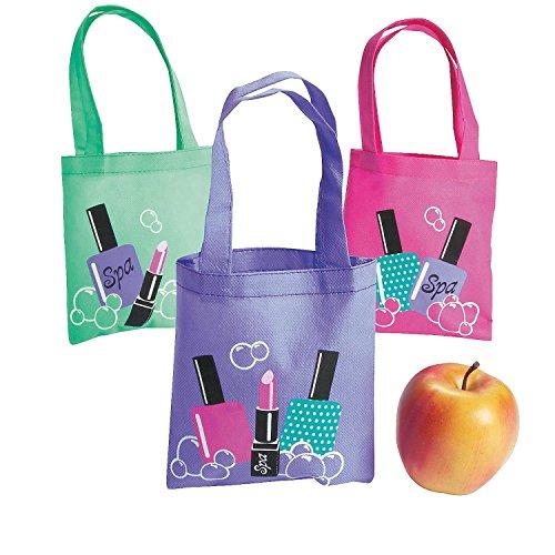 Fun Express Nonwoven Polyester Mini Spa Party Tote Bags