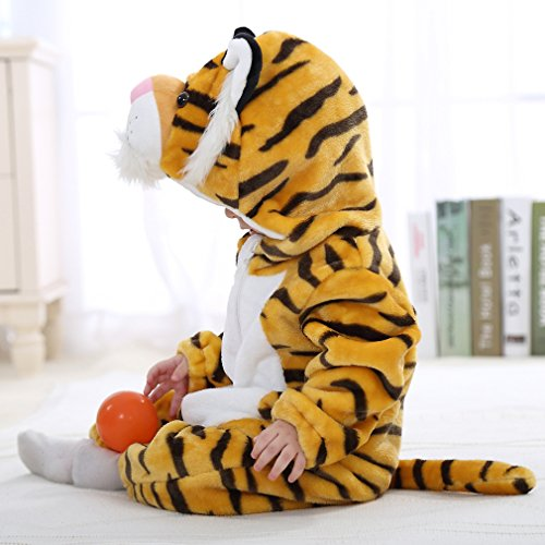 IDGIRL baby girls and boys' Flannel Cotton rompers Tiger-100CM Tiger 19-24 Months by IDGIRL (Image #6)