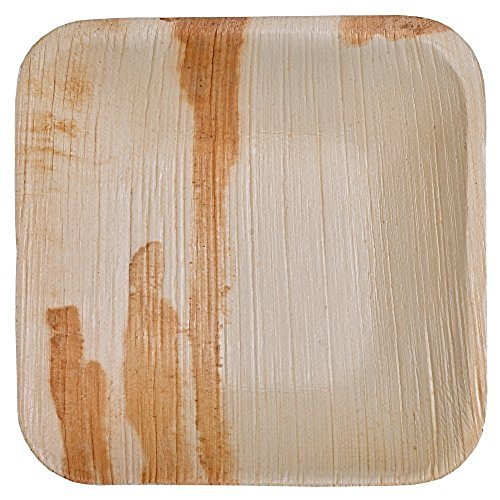 Agrifold Disposable Plates - 6 inch Deep Square Areca Palm Leaf Eco-friendly Plates Pack of 100 by Agrifold