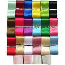 "Chenkou Craft 20Yards 1 1/2"" Single Face Solid Satin Polyester Ribbon 20 Colors Assorted Bulk Lots Mix"