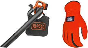 BLACK+DECKER Leaf Blower/Vacuum with Easy-Fit All Purpose Glove (LSWV36 & BD505L)