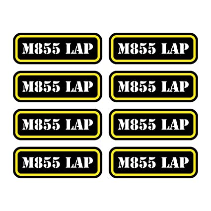 M855 LAP Ammo Can Sticker Set Decal Self Adhesive molon labe bullet FA Graphix 16x