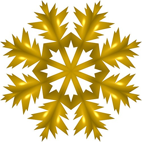 LAMINATED POSTER Golden Snowflake Illustrations Poster Print 24x - Mfnw
