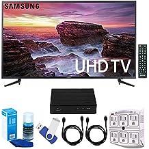 Samsung un58mu6100–58-inch Smart mu6100Series 4K UHD LED TV w/WiFi Plus terk cut-the-cord HD sintonizador de TV digital y grabador 16GB Hook-up Bundle