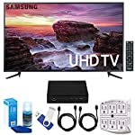 Samsung – 58-inch Smart Series LED 4K UHD TV w/ Wifi Plus Terk Cut-the-Cord HD Digital TV Tuner and Recorder 16GB Hook-Up Bundle UN58MU6100 MU6100