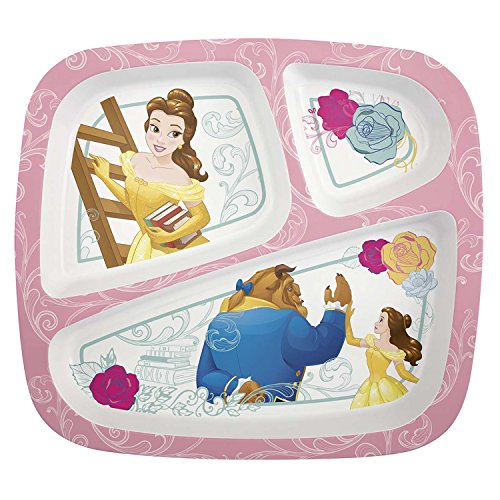 Zak Designs Pryf-0011 Divided Plates, (Princess Divided Plate)