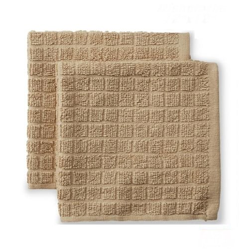 Globe House Products GHP 60-Pcs 15''x25'' Beige 100% Cotton Industrial Terry Cloth Kitchen Dish Towels