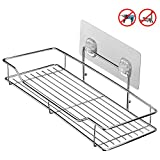 HOMEIDEAS Bathroom Shelf (Adhesive Shelf) Kitchen Organizer Rack Shower Caddy for Shampoo Holder, Wall Mounted, No Drilling, SUS304 Stainless Steel