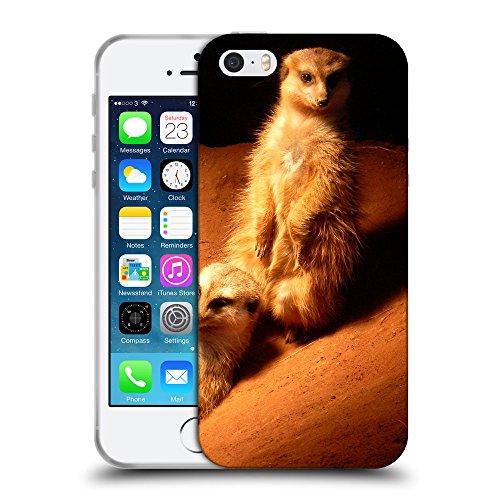 Super Galaxy Schutz Hülle TPU Case Schutzhülle Silikon Tasche Dünn Transparent // V00003638 Erdmännchen // Apple iPhone 5 5S 5G SE