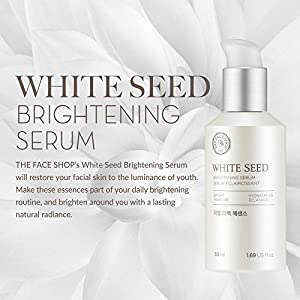The Face Shop Anti Aging Serum Facial Moisturizer, Advanced Brightening and Skin Repair with Natural White Seed Extract - 1.69 Oz 50 mL