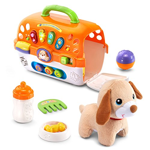 VTech Care for Me Learning Carrier Toy, Orange (Carrier Pet Play)