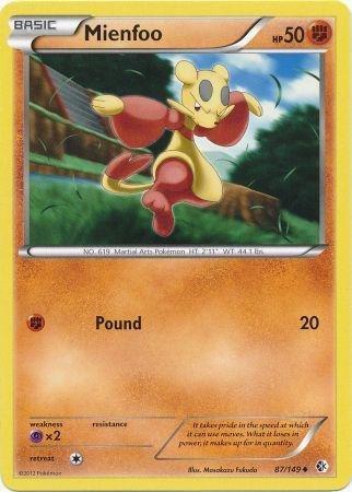 Pokemon - Mienfoo (87/149) - BW - Boundaries Crossed - Reverse Holo (Pokemon Card Mienfoo)