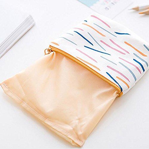 Leinwand Portemonnaie Geldbörse Tasche Tasche klein Reißverschluss Münzfach, 2Stück 1# 2#