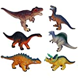 Small Dinosaur Toys for Boys,Girls and Toddlers of All Ages,Educational Realistic Dinosaur Figures,Dinosaur Party Supplies, Party Favors, Bath Toy,Toy Dinosaurs 6 Pieces
