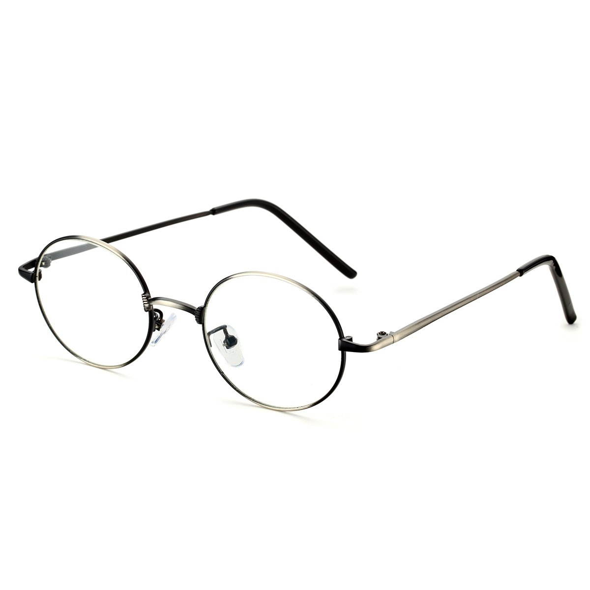 e14cdcf7a88 Amazon.com  PenSee Optical Metal Round Oval Circle Eye Glasses Eyewear  Frames  Clothing