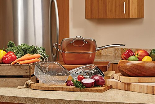 Copper Chef Kitchen Set Cookware Set 9 5 Inches Deep