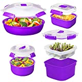 purple dish rack - Sistema (8pc) Microwave Cookware & Food Storage Container Set With Lids, Reusable