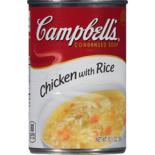 Campbell's Condensed Soup, Chicken with Rice, 10.5 Ounce (Pack of 24) (Sugar Free Tomato Soup)