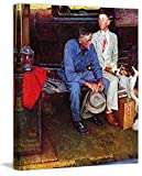 "Marmont Hill Norman Rockwell Prints sobre lienzo ""Breaking Home Ties"" Lámina, 40 por 48 """