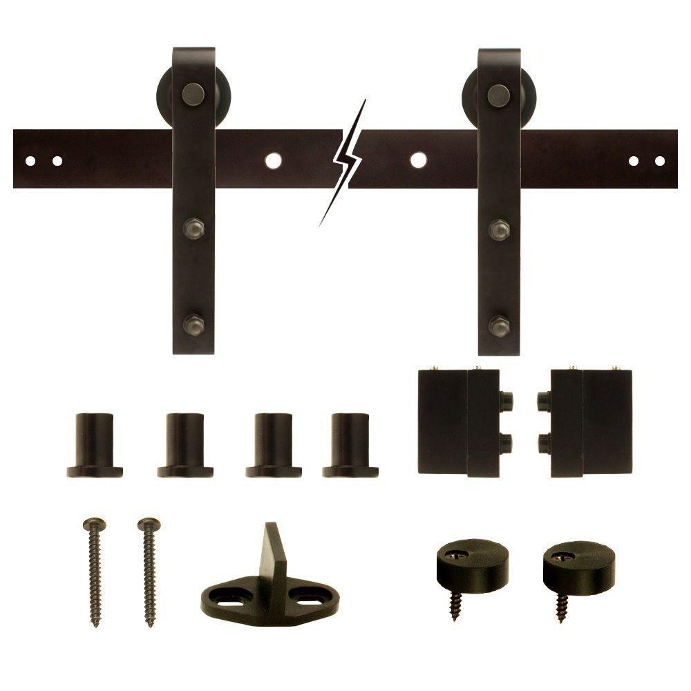 Everbilt Dark Oil-Rubbed Bronze Steel Decorative Sliding Door Hardware by Everbilt