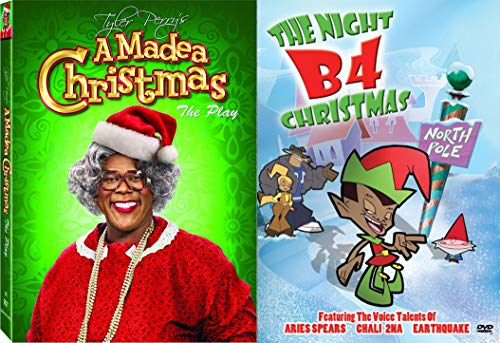 Laugh and Cry and Laugh Some More with Tyler Perry's A Madea Christmas The Play & The Night B4 Christmas Animated Big Happy Family 2-Comedy DVD Bundle (Night Christmas B4)