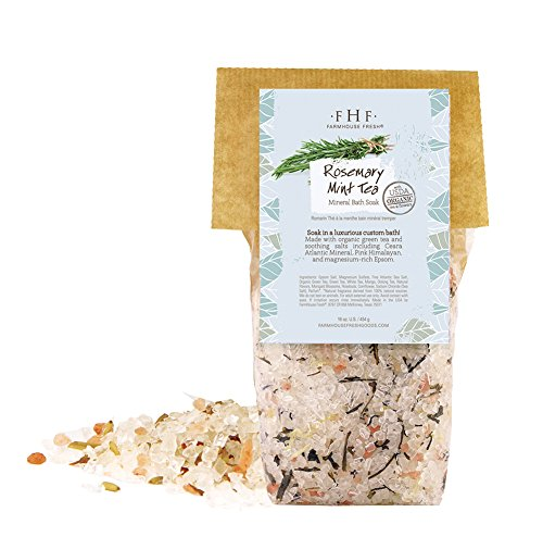 Rosemary & Mint Tea Mineral Bath Salts, 1lb, by Farmhouse Fresh -