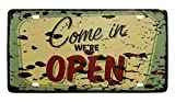 VASTING ART Decorative Signs Tin Metal Iron Sign Painting Open Come In For Wall Home Office Bar Coffee Shop