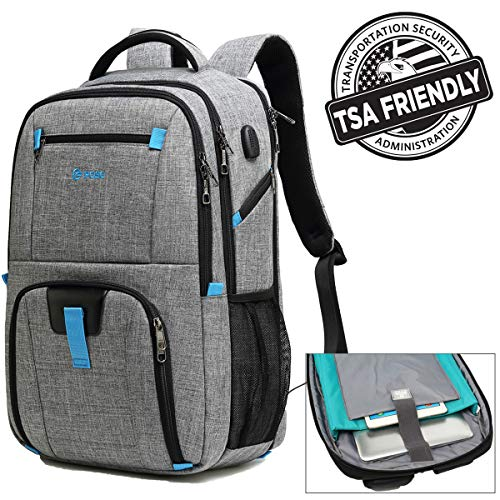 (17.3 inch Laptop Backpack, Large Capacity Laptop Backpacks for Men & Women with USB Charging Port, TSA Checkpoint Friendly Waterproof Laptop Backpack, Business Travel Tablet Backpacks)