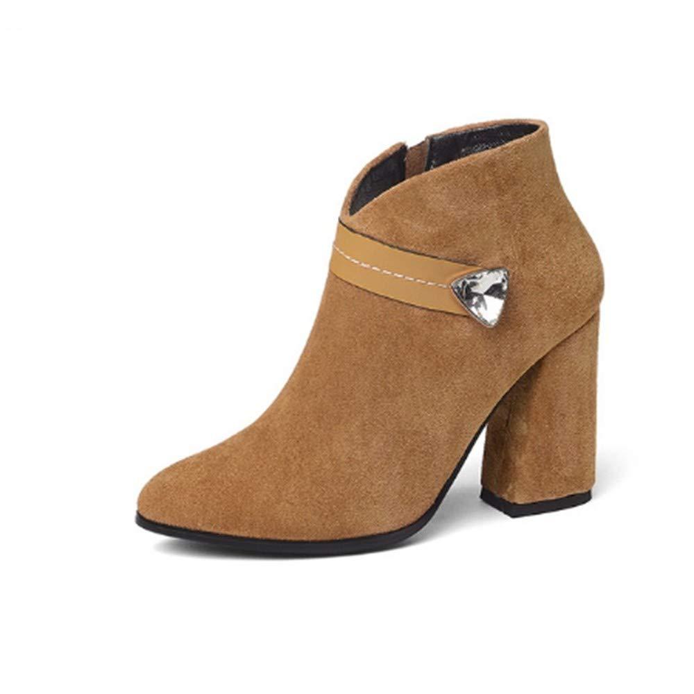 FMWLST Stiefel Damen Stiefeletten Plateau Damen Damen Damen Kristall Herbst Winter Stiefel  20c801