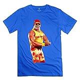 Vintage Hulk Hogan Body Building Men's Tshirt RoyalBlue Size M
