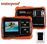 super zoom compact camera - Waterproof Digital Camera for Kids, LINNNZI 12MP HD Underwater Action Camera Camcorder with 2.0 Inch LCD Display, 8x Digital Zoom, Flash and Mic