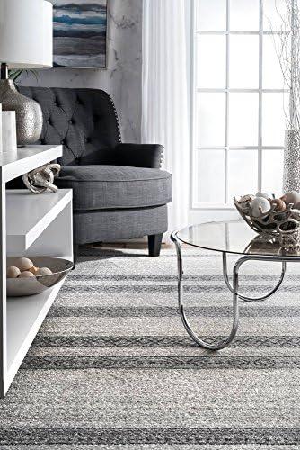 nuLOOM Makeda Striped Area Rug, 8 2 x 11 6 , Grey