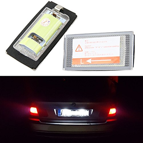 BMW LED License Plate Lights - Led Number License Plate Lamps Bulbs for BMW E46 2D M3 98-03 pre-facelift Canbus Error Free Led Assembly Tail ()