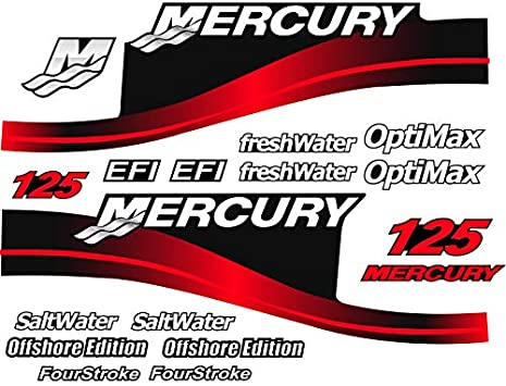 BLUE EFI SALTWATER OUTBOARD DECALS MERCURY 175hp