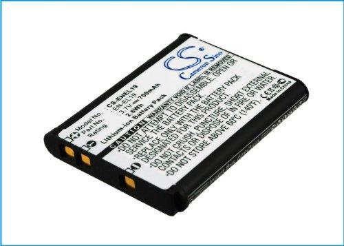 Battery2go - 1 year warranty - 3.7V Battery For NIKON Coolpix S4200, Coolpix S100, Coolpix S2500, Coolpix S3200