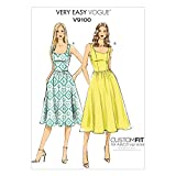 Vogue Patterns V9100 Misses' Dress, Size A5 (6-8-10-12-14)