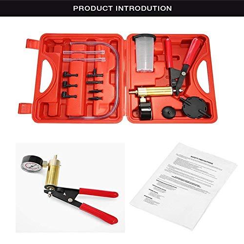 Syfinee Brake Bleeder Kit Hand Held Vacuum Pump Tester Portable Bleeding Tools for Car