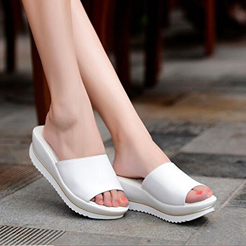 Sandals Feifei Women's Shoes High Quality Material Summer Thick Bottom Fashion Slippers 4 Colors Optional White AtkUz8T
