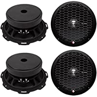 4) Rockford Fosgate PPS4-8 8-Inch 1000 Watt 4-Ohm MidRange Car Stereo Speakers