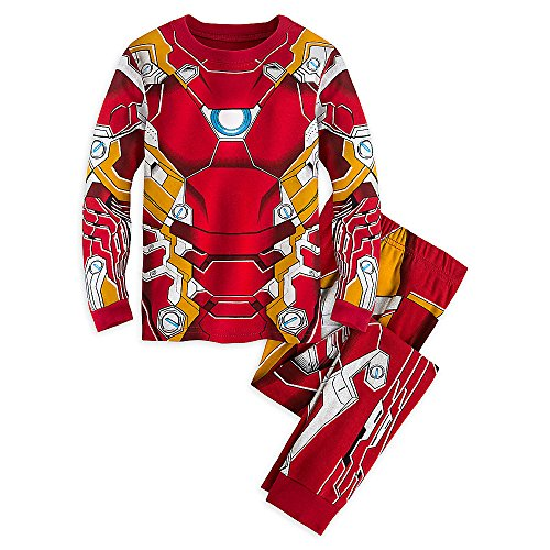 Disney Iron Man (Marvel Iron Man Costume PJ PALS Pajamas for Boys - Captain America: Civil War Size 5)