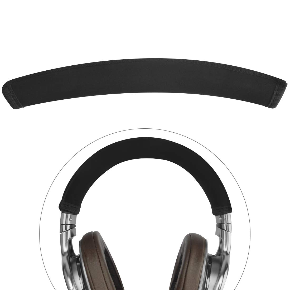 Linkidea Headband Cover, Compatible with Sony MDR 1A, 1ADAC, 1ABT, 1R, 1RNC Headphones Replacement Headband Protector/Replacement Headband Cushion Pad Repair Parts/Easy DIY Installation (Black) LI1727